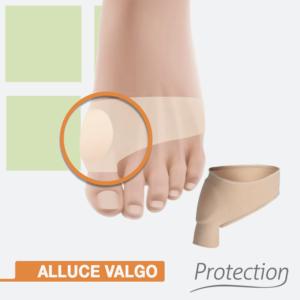 Protezione per alluce valgo, fascia protettiva